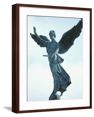 Angelic Statue - Montreal, Quebec, Canada--Framed Art Print