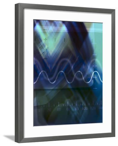 Abstract Lines and Symbols with Numbers--Framed Art Print