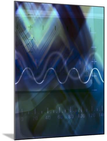 Abstract Lines and Symbols with Numbers--Mounted Photographic Print