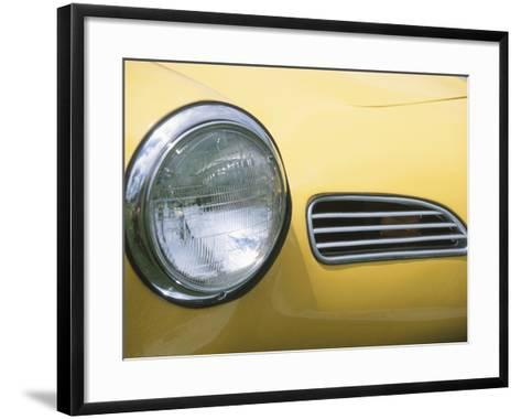 Headlight in Yellow Car--Framed Art Print