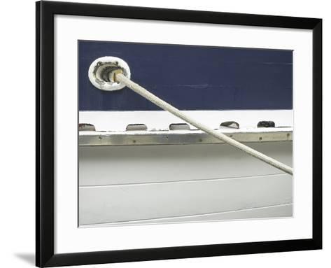 Mooring Rope on Side of Boat--Framed Art Print