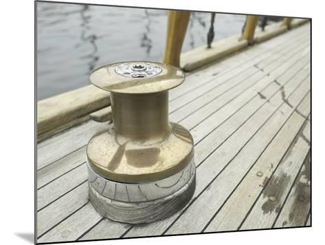 Brass Boat Moor on Wooden Pier--Mounted Photographic Print
