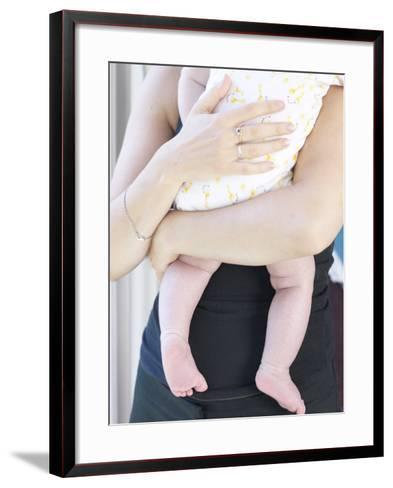 Woman Holding Baby--Framed Art Print