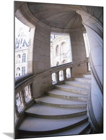 Curved Stone Staircase--Mounted Photographic Print
