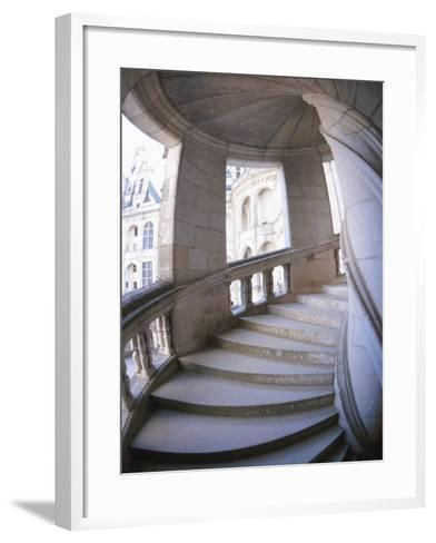 Curved Stone Staircase--Framed Art Print