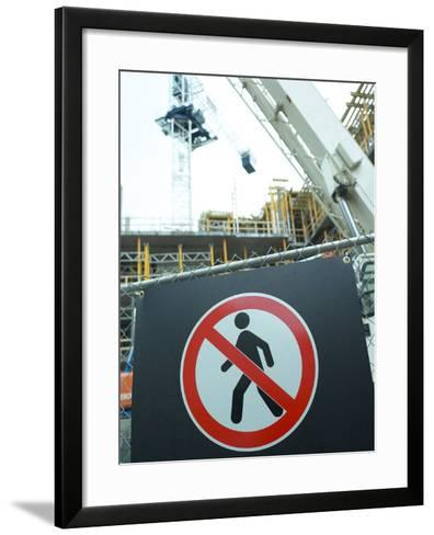 Construction Site--Framed Art Print