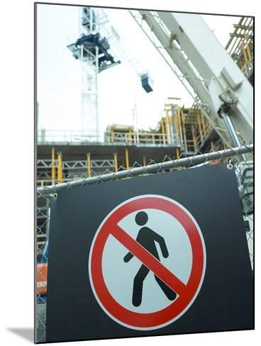 Construction Site--Mounted Photographic Print
