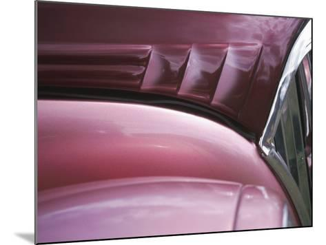 Close-up of Vent on Pink Classic Car--Mounted Photographic Print