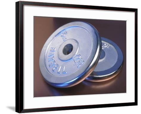 Two Dumbbell Weights for a Workout--Framed Art Print