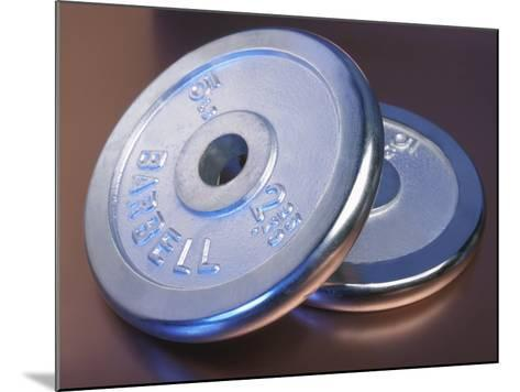 Two Dumbbell Weights for a Workout--Mounted Photographic Print