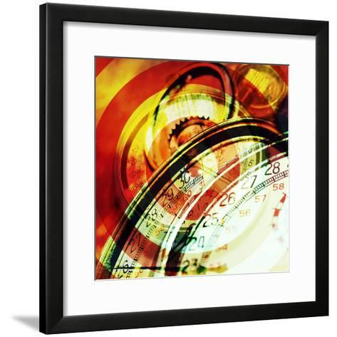Images of Stopwatches--Framed Art Print