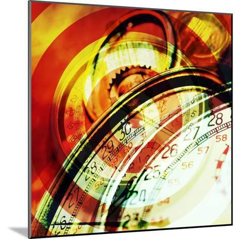 Images of Stopwatches--Mounted Photographic Print