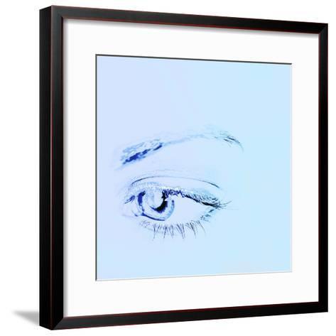 Close-up of a Human Eye--Framed Art Print