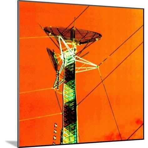 Technological Electric Tower with Power Lines--Mounted Photographic Print