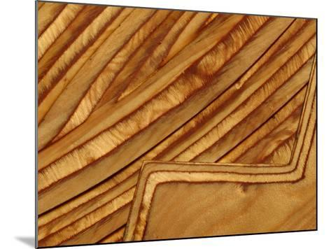 Close-up of Smooth Detail Lines Carved into a Piece of Wood--Mounted Photographic Print