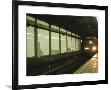 Slow Motion Subway--Framed Art Print