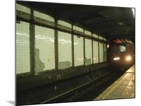 Slow Motion Subway--Mounted Photographic Print