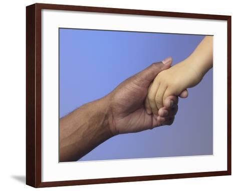 Adult Holding Child's Hand--Framed Art Print
