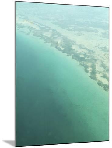 Aerial View of Green Seashore and Island--Mounted Photographic Print
