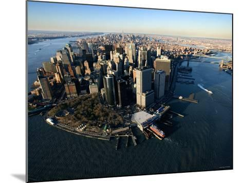Aerial View of Skyscrapers and High-Rises in New York City--Mounted Photographic Print
