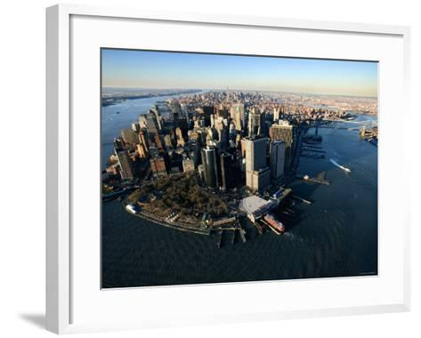 Aerial View of Skyscrapers and High-Rises in New York City--Framed Art Print