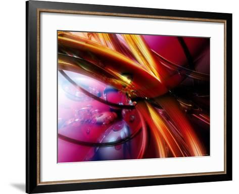 Abstract Streaming Vibrant Colors--Framed Art Print