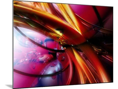 Abstract Streaming Vibrant Colors--Mounted Photographic Print