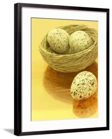 Speckled Eggs in a Little Bird's Nest--Framed Art Print