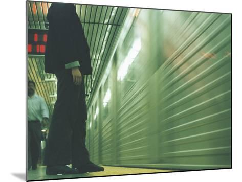 Person Waiting For Subway--Mounted Photographic Print