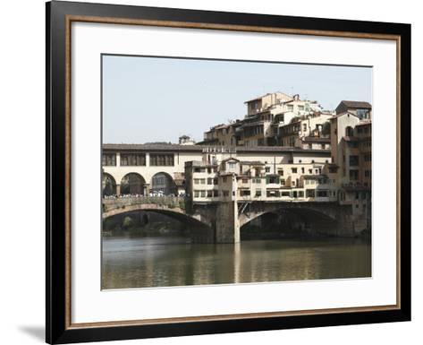 The Ponte Vecchio of Florence Spanning the Arno River--Framed Art Print