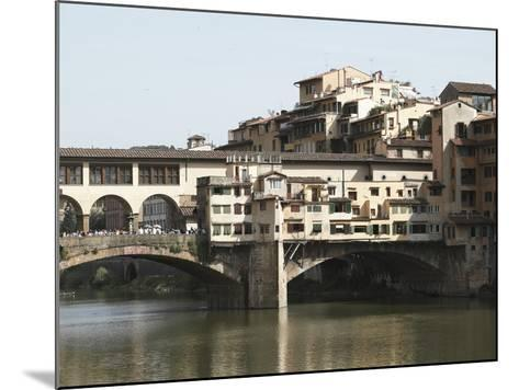 The Ponte Vecchio of Florence Spanning the Arno River--Mounted Photographic Print