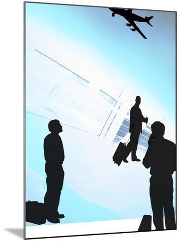 Human Shadow Figures at an Airport--Mounted Photographic Print