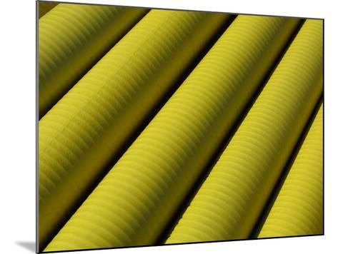 Close-up of Yellow Tubing--Mounted Photographic Print