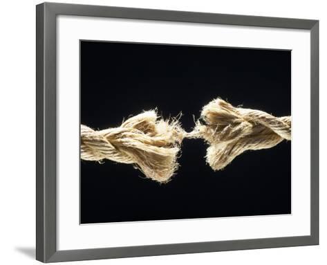 Fiber Rope Against Black Background--Framed Art Print