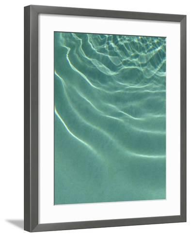 Sparkling Green Water Rippling in a Pool--Framed Art Print