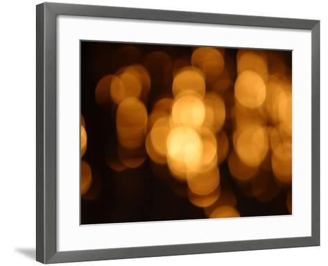 Blurred Lights--Framed Art Print