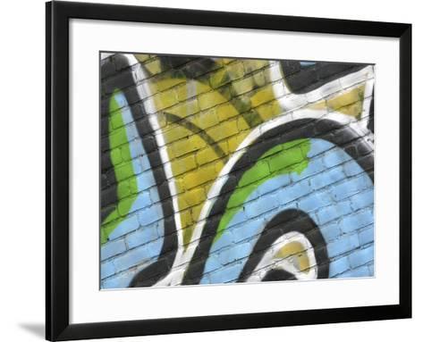 Close-up of Graffiti--Framed Art Print