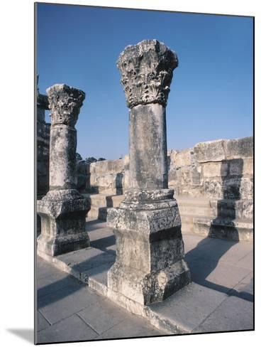 Beautiful Carved Stone Pillars--Mounted Photographic Print