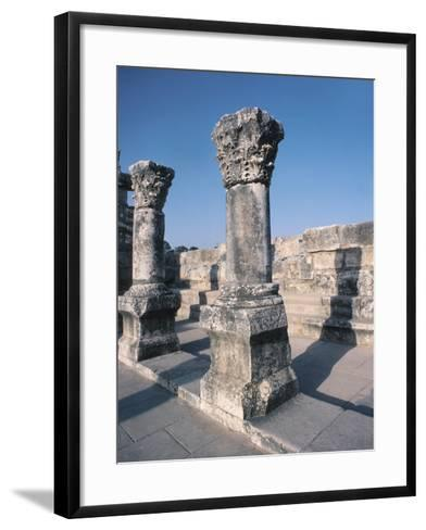 Beautiful Carved Stone Pillars--Framed Art Print