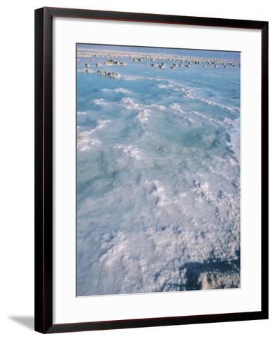 Salt in the Sea - Israel, Dead Sea--Framed Art Print