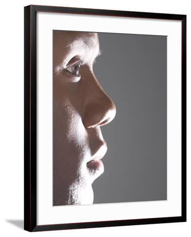 Profile of Man's Face--Framed Art Print