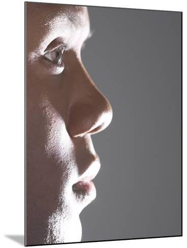 Profile of Man's Face--Mounted Photographic Print