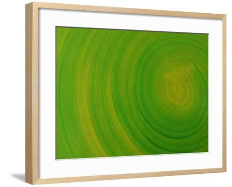 Close-up of Smooth Painted Green Swirls--Framed Art Print