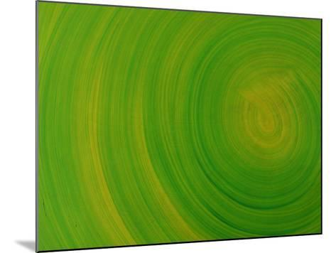 Close-up of Smooth Painted Green Swirls--Mounted Photographic Print