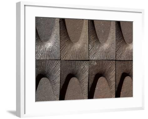 Close-up of Engraved Metal with Lines of Texture in Arches--Framed Art Print