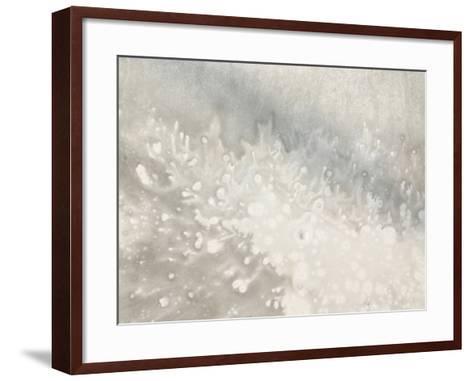 Close-up of Blotchy Gray Texture--Framed Art Print