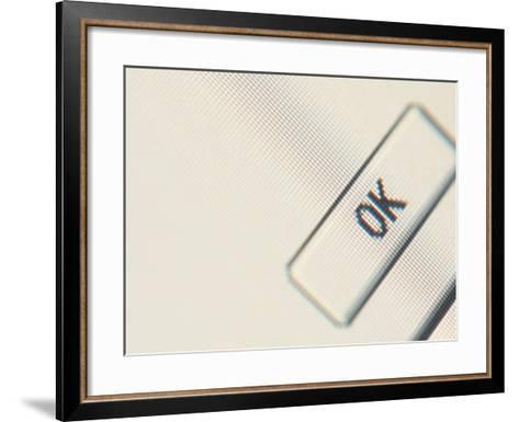 Close-up of a Computer Screen with an Icon and Black Lettering--Framed Art Print
