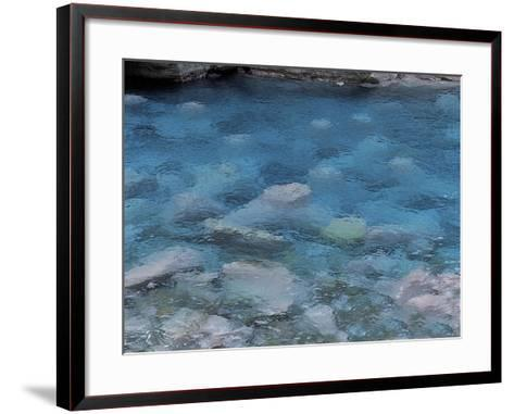 Raindrops on the Surface of a Flowing River--Framed Art Print