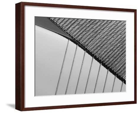 Close-up of Engraved Lines of Texture on a Shuny Metal Surface--Framed Art Print