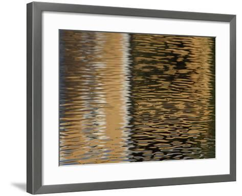 Reflection of Building in Water--Framed Art Print